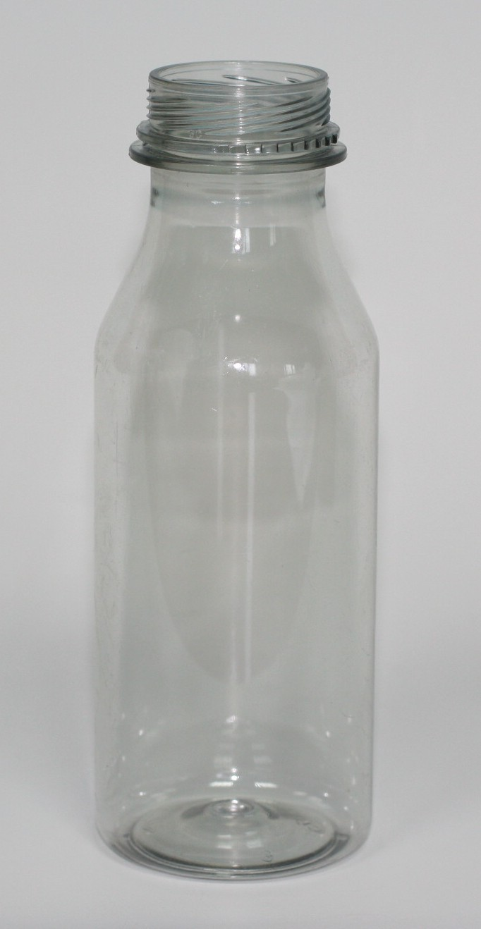 250ml TAMPER EVIDENT JUICE BOTTLE CLEAR PET 34mm T/E