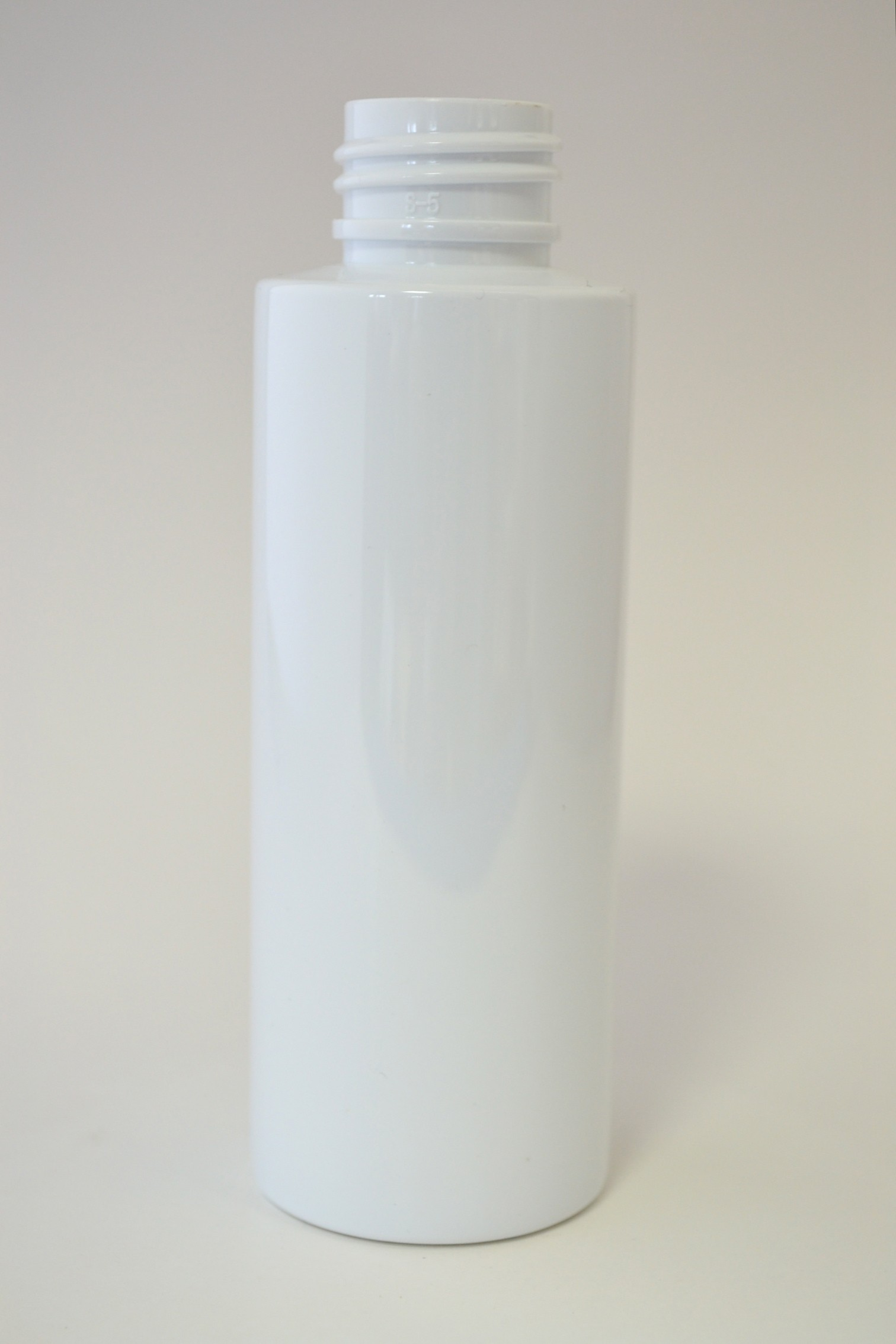 100ml CYLINDRICAL WHITE PET 24mm 410