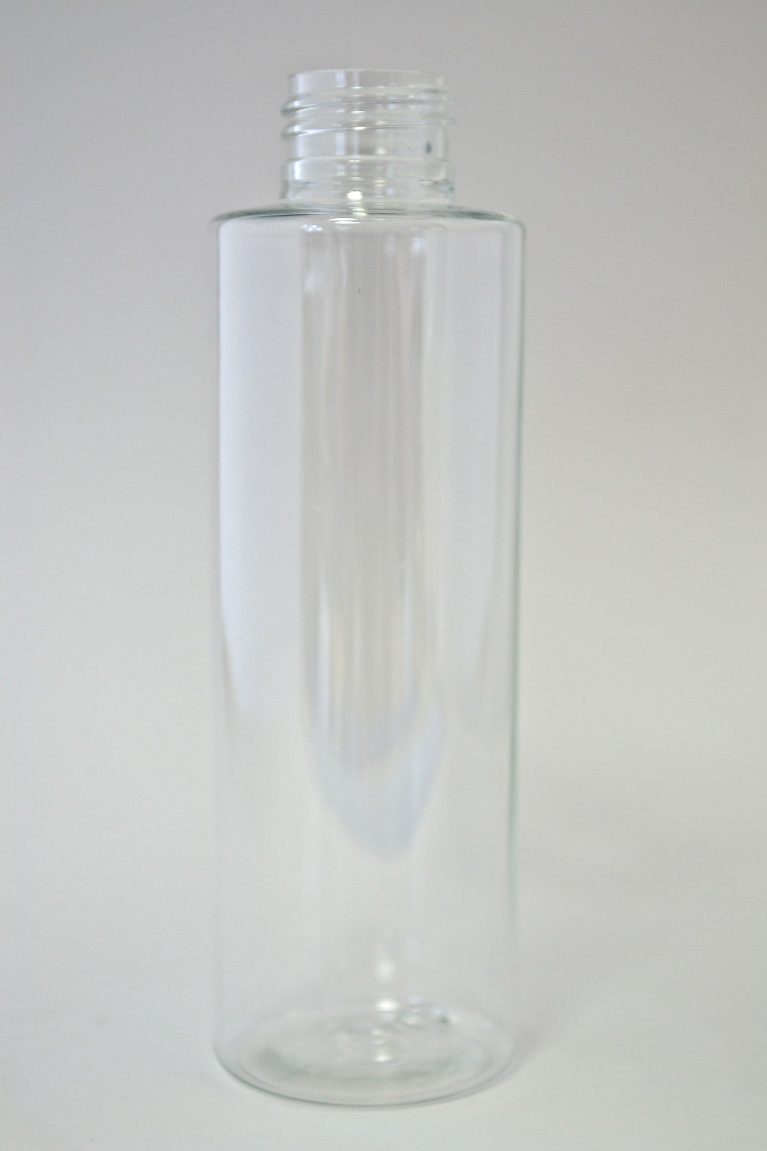 150ml CYLINDRICAL CLEAR PET 24mm 410