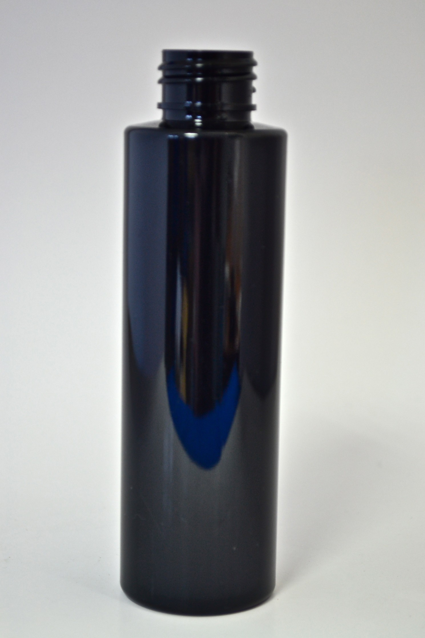 120ml CYLINDRICAL BLACK PET 24mm 410