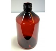 500ml VERAL BOTTLE AMBER PET 28mm ROPP