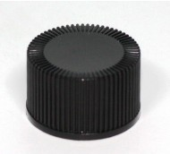 22mm 410 RIBBED CAP BLACK POLYPROP