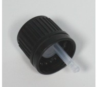 18mm 400 BLACK WADDED TAMPER EVIDENT CAP