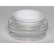 15ml ACRYLIC/PP CLEAR & WHITE JAR