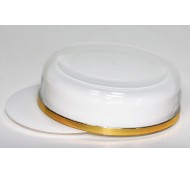 58mm LID & SHIVE FOR 55ml WHITE EPE GOLD BAND