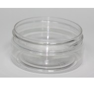 100ml SQUAT PET JAR CLEAR 70mm 400 STRAIGHT SIDED