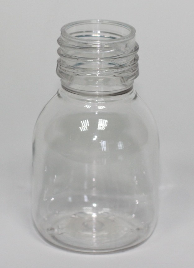 60ml PET SIROP BOTTLE CLEAR 28mm ROPP