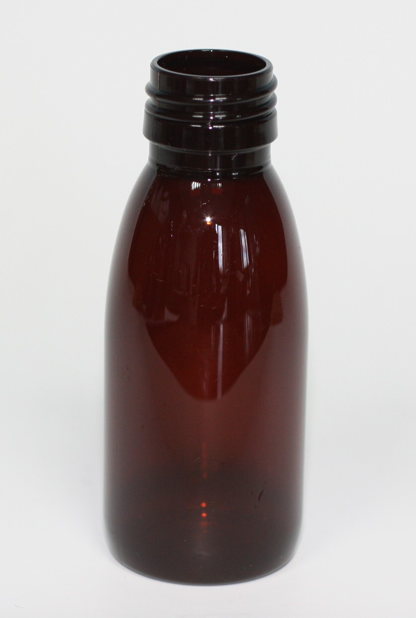 100ml PET AMBER MEDICAL BOTTLE NECK 28mm 400