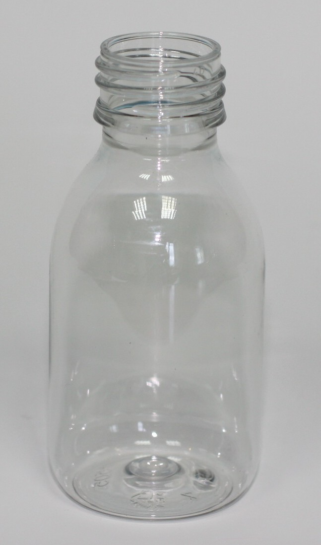 100ml PET MEDICINE BOTTLE CLEAR 28mm ROPP
