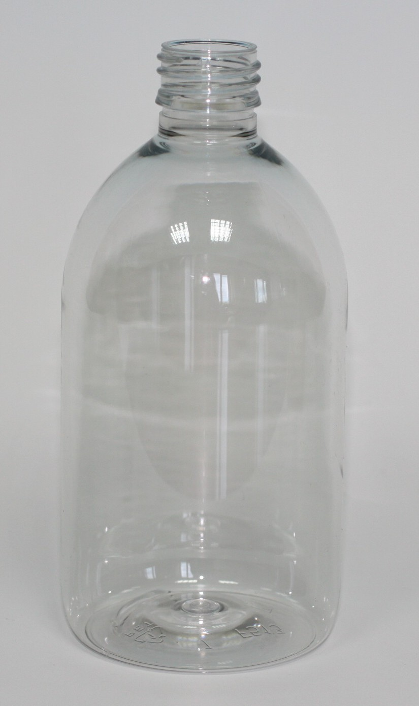 500ml SIRUP BOTTLE CLEAR PET 28mm ROPP