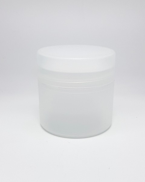 50ml DOUBLE WALL JAR FROSTED & WADDED LID