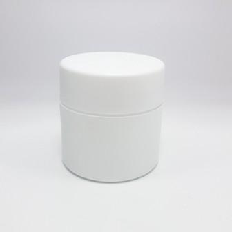 50ml DOUBLE WALL JAR MATT WHITE & WADDED LID