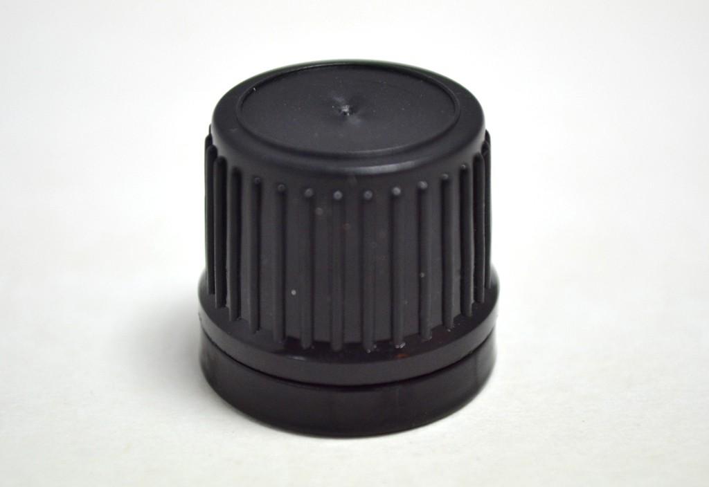18mm 400 BLACK WADDED TAMPER EVIDENT CAP