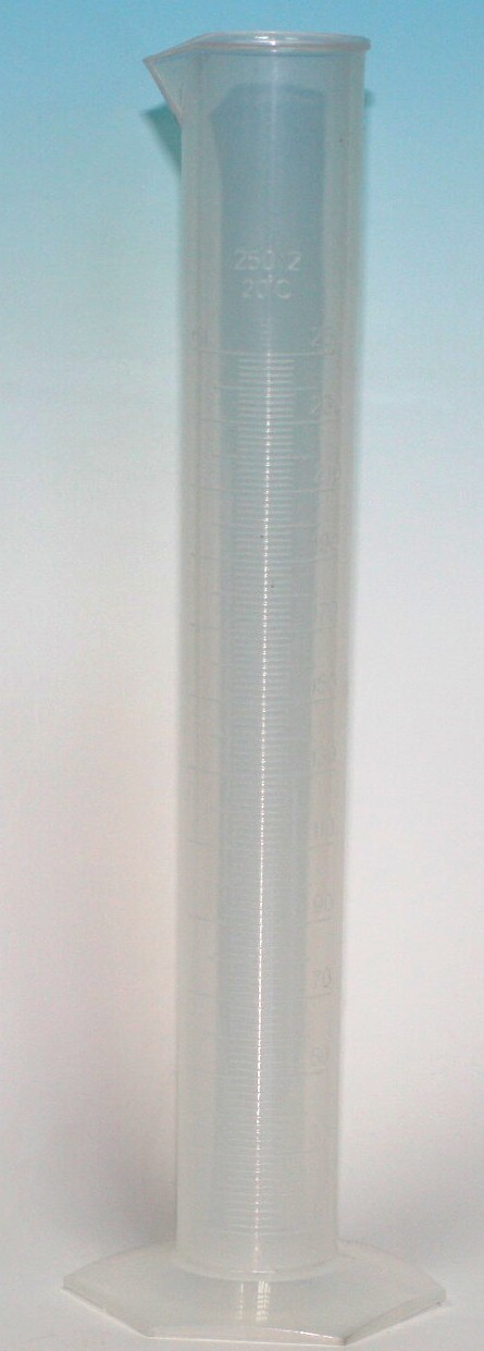 250ml MEASURING CYLINDER PP