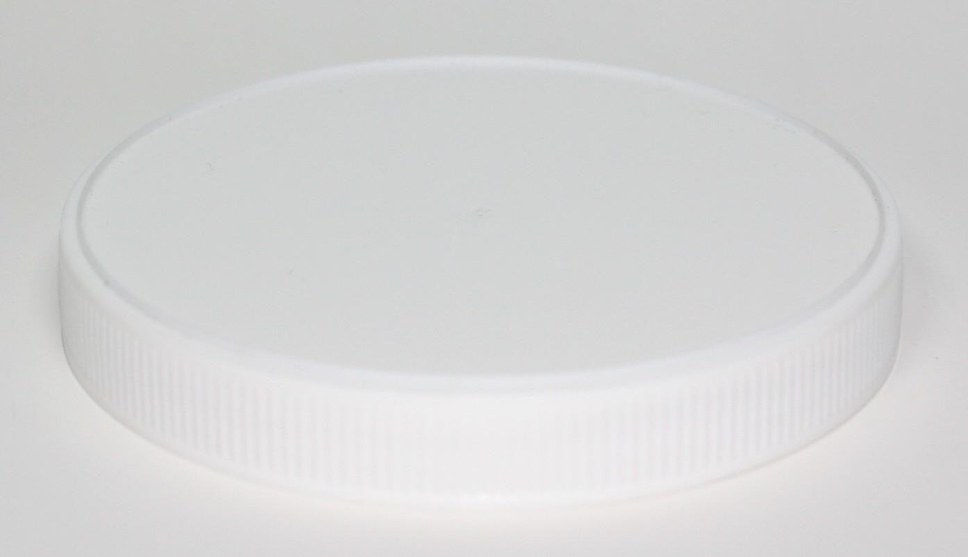 100mm WHITE LID PP WADLESS
