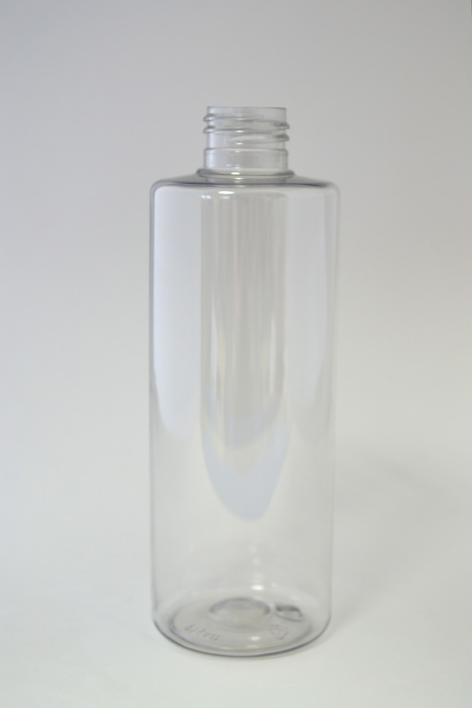 250ml CYLINDRICAL CLEAR PET 24mm 410