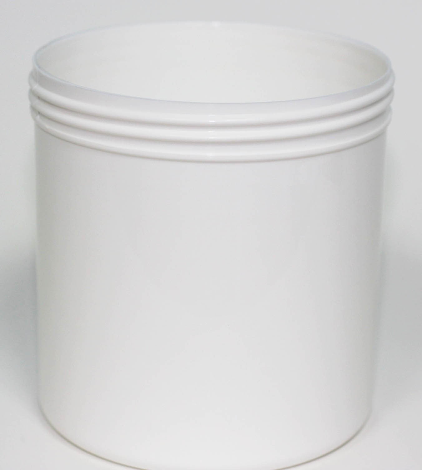 650ml WHITE PP JAR 100mm