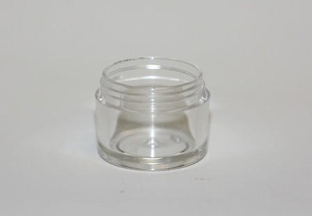 10ml SINGLE WALL JAR CLEAR 33mm NECK