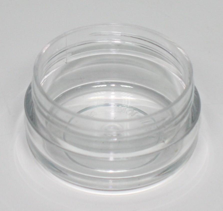 10ml SQUAT OPAL CLEAR CRYSTAL JAR