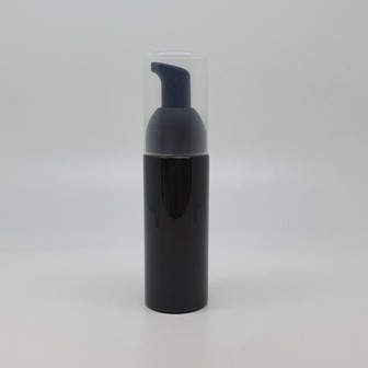 50ml BLACK PET BOTTLE, MOUSSE PUMP & OVERCAP