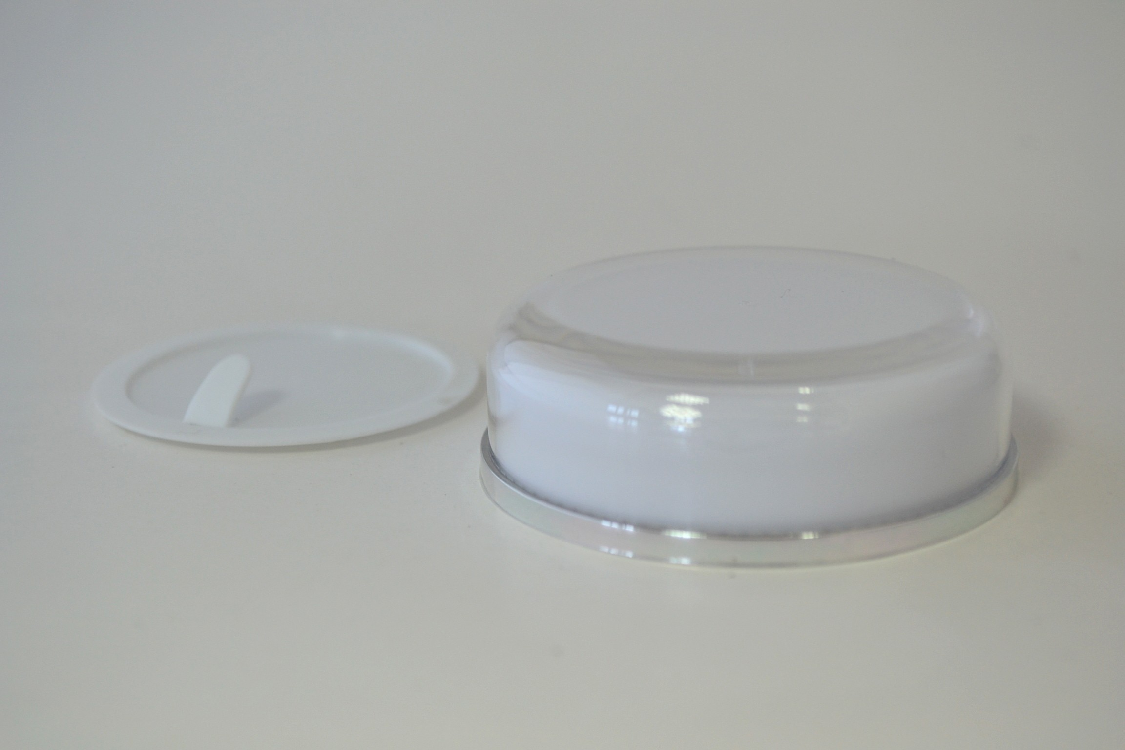 LID & SHIVE FOR 15/30ml WHITE SILVER BAND