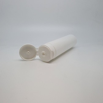 100ml TUBE WHITE LDPE FLIP TOP (3mm Oriface) 40mm X 119mm