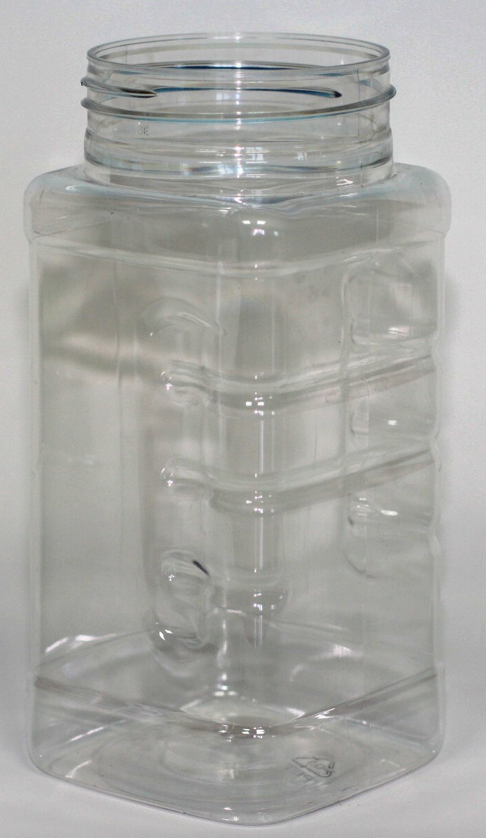 500ml SQUARE GRIP CLEAR PET 63mm