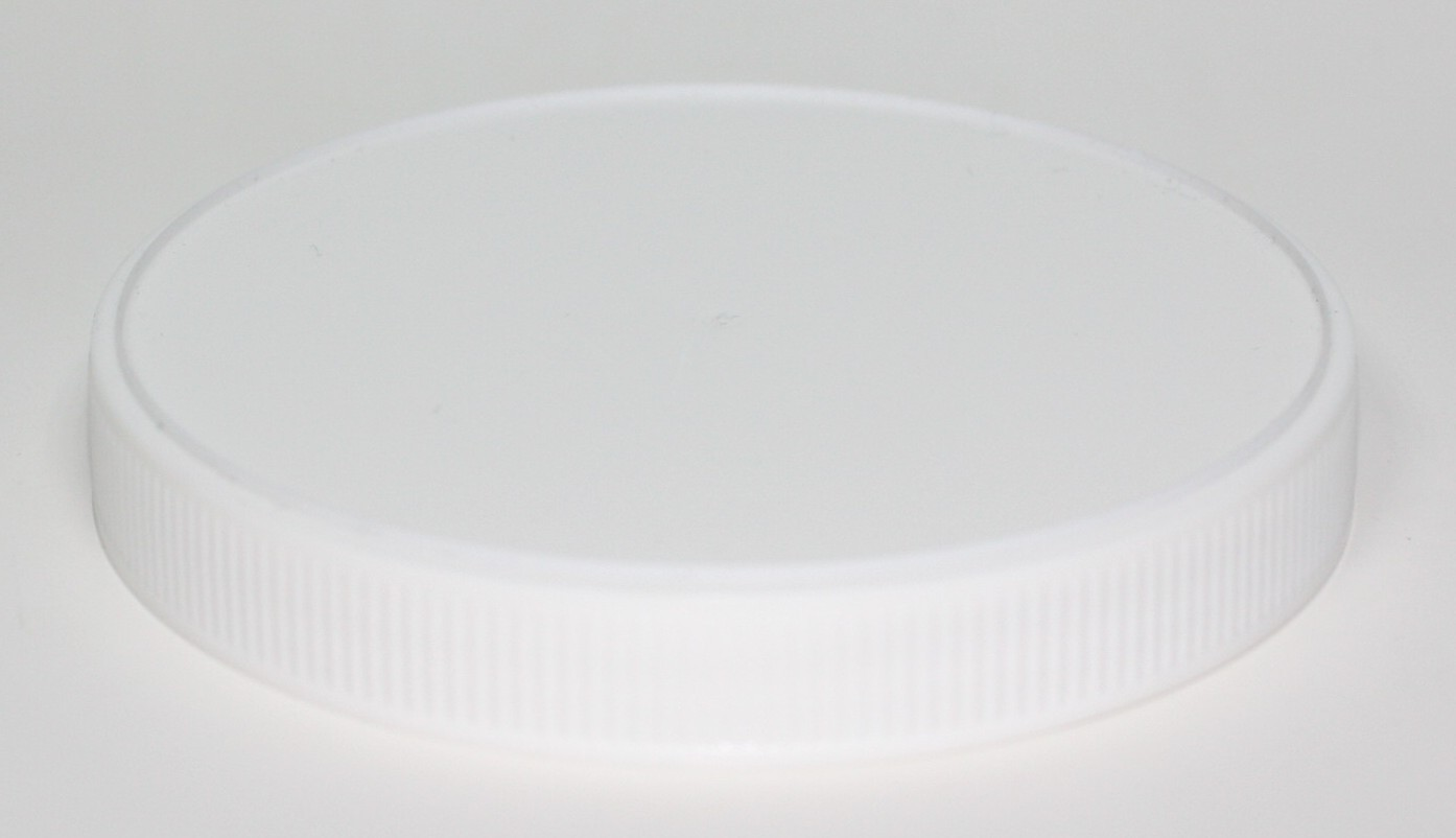 100mm 400 WHITE PP EPE LINED RIBBED CAP