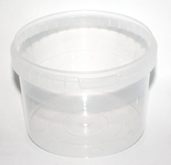 500ml PP BUCKET TAMPER EVIDENT TOUCH CLEAR