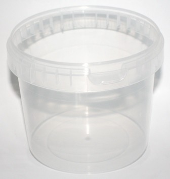 1000ml CLEAR TAMPER EVIDENT SQUAT BUCKET