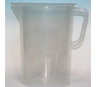 5000ml JUG SQUAT FORM NATURAL POLYPROP