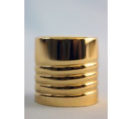 24mm 410 GOLD/WHITE DISC TOPS EXPOSED THREAD
