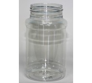 500ml RECESSED CYLINDRICAL CLEAR PET 63mm