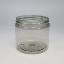 200ml STRAIGHT SIDED JAR 100% RECYCLED PET (PCR) 70mm 400